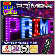 "Red Blue Purple 20mm 40""x15"" New Programmable LED Sign Scrolling Message Display"