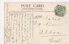 Miss Gates, Dip Nurseries, Alton, Hampshire 1905 Postcard, M032