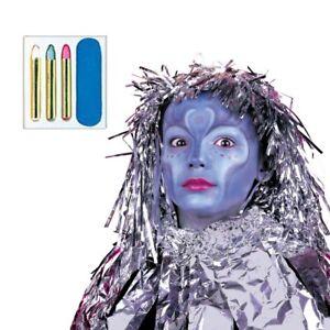 Costume Maquillage Avatar Bleu Carnaval Make Up de