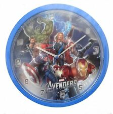 KIDS ROOM WALL CLOCK OFFICIAL MARVEL AVENGERS IRONMAN CAPTAIN AMERICA HULK THOR