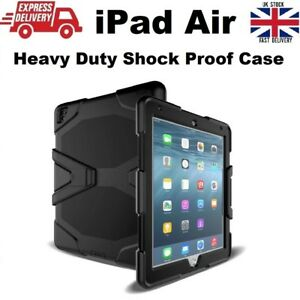 Tough Military Heavy Duty Silicone Rubber Case for iPad Air (A1474/A1475/A1476)