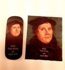 *Rare*  Martin Luther Hard Eyeglass Case with Cleaning Cloth  EUC