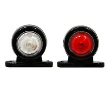 2 x 12V 24V Piccolo Luci 2 LED Bianco Rosso Ingombro Laterale Furgone Camion A01