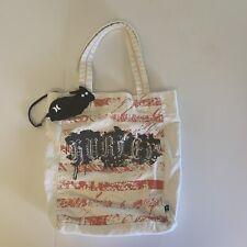 Hurley Graphic Canvas Tote Bag & Coin Purse Shoulder Reusable