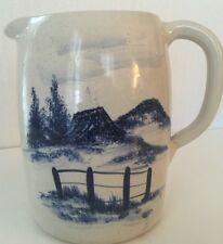 Storie & Son Pottery Milk Pitcher Marshall Texas Patsoral Setting 92' 7-3/4H