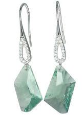 Fluorite Gemstone Sparkling Easy Wear Dangle Design Sterling Silver Earrings