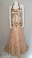 BEST LOOK GOLD EVENING PROM DRESS SIZE 6