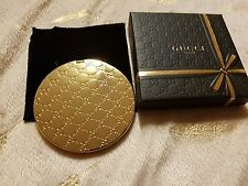 Gucci Ladies Double Compact Mirror BNIB Limited Edition Gold gorgeous!