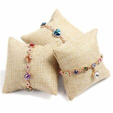 Cushion Small Display Bangle Earring Watch For Jewelry Linen Pillow Bracelet