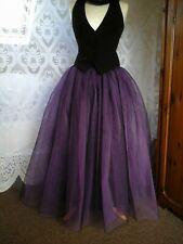 womens tutu skirt tulle long black purple wedding petticoat goth prom steampunk