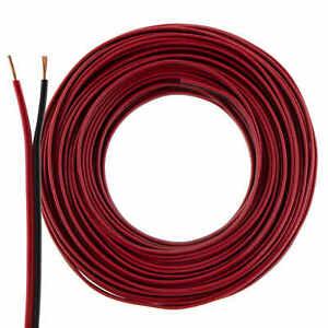 Lautsprecherkabel 2x0,75mm² - 25m - rot-schwarz - CCA - Audiokabel - Boxenkabel