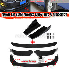 Front Bumper Lip Spoiler Lower Splitters+Side Skirts For BMW E46 E53 E90 E92 E93(Fits: M3)