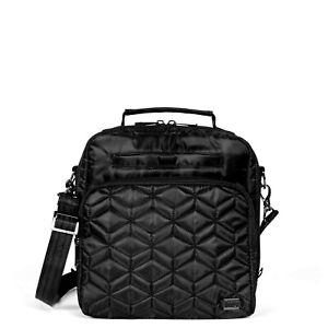 New Lug Travel RANGER Crossbody Shoulder RFID  Bag Quilted MIDNIGHT BLACK gift