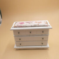 1:12 Dollhouse Three Drawer Cabinet Mini Wooden Furniture House Toy