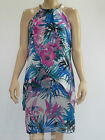 Crossroads Ladies Sleeveless Necklace Trim Mid Dress size 10 14 Colour Floral