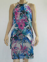 Crossroads Ladies Sleeveless Necklace Trim Mid Dress size 10 14 Colour Floral