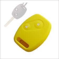 Auto Car key silicone shell cover Honda Accord Civic Fit CRV Odyssey CITY Yellow