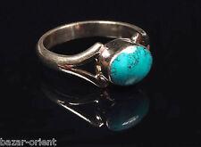 Traditioneller Tibetischer Türkis Ring tibetan turquoise ring neusilber  Nr.12