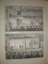 Catholic and Protestant chapels at Millbank Prison London 1873 old prints