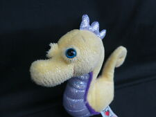 WEBKINZ LIL KINZ PLUSH ONLY NO CODE SEAHORSE FREE SHIPPING YELLOW PURPLE SPARKLY