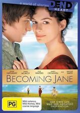 Becoming Jane DVD BRAND NEW ROMANCE Anne Hathaway James McAvoy Julie Walters R4