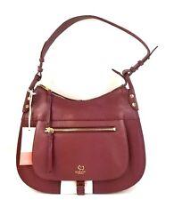 Radley London Satchel Large Leather Zip Top Hobo Bag (Dark Red)