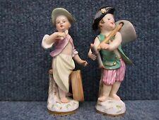 "Meissen Porcelain Pair ""Cupids in Disguise"" Verkleidete Amoretten, n°11, 19th c"