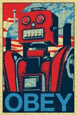 Robot Obey Poster Print, 24x36