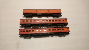 Rivarossi HO Train Southern Pacific Daylight Lot of 3 Passenger Cars RTR