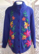 Vintage Mohair Cardigan Purple By Abel