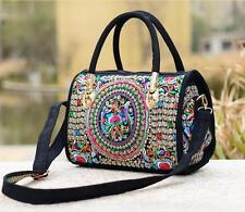 Flowers Embroider Handbag Shoulder Bag Crossbody Messenger Purse Women Bags