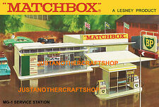 Matchbox MG-1 Service Station A4 Size Poster Leaflet Shop Display Sign Advert
