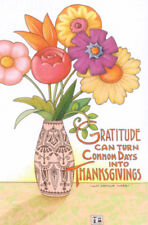 Gratitude Thanksgiving Flowers-Handcrafted Fridge Magnet-W/Mary Engelbreit art