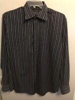 Indigo Palms Tommy Bahama Men's Long Sleeve Button Down Striped Shirt Large