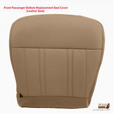 1997-1998 FORD F-150 PASSENGER BOTTOM LEATHER REPLACEMENT SEAT COVER PRAIRIE TAN
