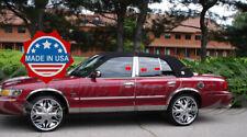 1992-2011 Mercury Grand Marquis 6Pc Chrome Pillar Post Trim Stainless Steel Door