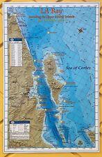 BAJA DIRECTIONS Fishing Charts Map of Baja California, Mexico, La Bay / Midriffs