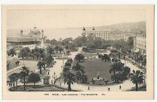 France - Nice, Les Jardins - 1920's postcard