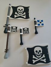 LEGO Flags 6 x 4 w/ Skull and Crossbones and imperial lot Pirates 6285 6273 6286