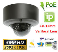GW 5MP (2X 1080P) 1920P IP PoE Cam 2.8-12mm Varifocal Zoom Security Dome Camera