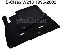 Floor Mats For Mercedes Benz E Class W210 Black Carpets With MB Emblem & Clips