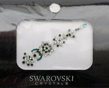 Bindi bijoux de peau mariage front strass cristal Swarovski vert INHC  3609