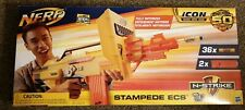 NEW NERF N-STRIKE ICON FULL AUTO STAMPEDE ECS 36 DARTS & 2 extended clips