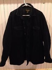 EUC Chesterfield Mean Heavy Jacket Button Front Long Sleeve Suede Feel XXL