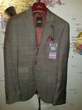 NEXT Brown Textured Slim Fit Suit: Jacket 34R/86 CM