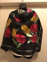 Womens Silk Floral Scarf