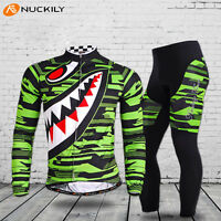 Men's MTB Cycling Bike Long Sleeve Jersey Pants Set Bicycle Sports Clothing Suit