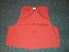 NEW Bright Red Button Up Front Waistcoat Plain/Simple/Smart/Casual/Light Weight