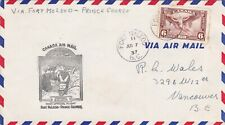 Canada 1937 First Flight Fort Mcleod-Prince George cover VGC