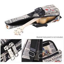 """21"""" UKE Soft case Ukulele gig bag for Soprano Concert uku Newspaper style Q9H1"""